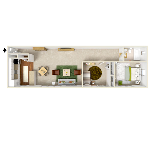 dohr two bedroom medium floor plan